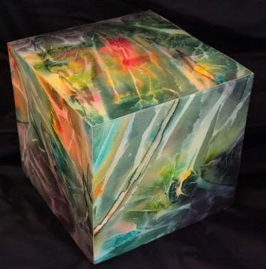 """Cube """"le feu au coeur du bois"""""""